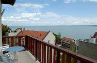 Panoramic hotel room at Lake Balaton in Echo Residence All Suite Luxury Hotel in Tihany
